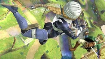 Sheik and Link in SSB Wii U
