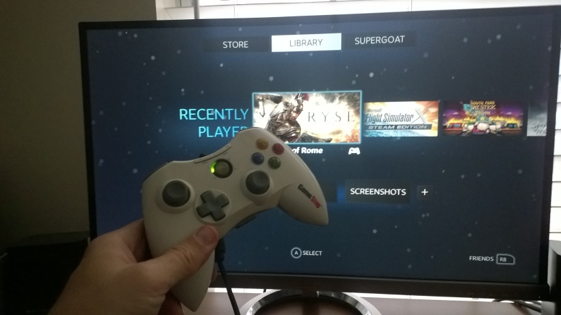 Xbox pad on a pc = Mind Blown.
